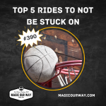 Title card for Top 5 Rides to Not Be Stuck On